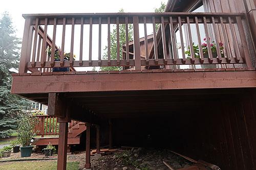 Acorn Maintenance in Eagle River Alaska deck restoration repair build