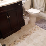 Eagle River Bathroom Upgraded and Remodeled with new Floor Tile