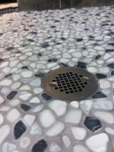 Home Repair-Bathroom Upgrade-Shower Pan River Rock Tile #2 by Acorn Maintenance Repair
