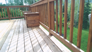 Deck Repair -Deck Stain Before #1 by Acorn Maintenance Repair