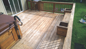 Deck Repair -Deck Stain Before #2 by Acorn Maintenance Repair